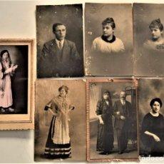 Fotografía antigua: LOTE 7 FOTOGRAFÍAS POSTALES DE FOTÓGRAFOS DE VALENCIA ORTÍ, DERREY, GROLLO, LLOPIS Y SÁNCHEZ. Lote 233578775