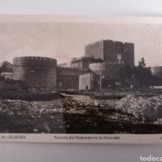 Fotografía antigua: ALMERÍA. TORREON DEL HOMENAJE EN LA ALCAZABA. FOTO ROISIN. ANTIGUA.. Lote 233957255
