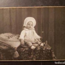 Fotografía antigua: RETRATO DE NIÑO IRUELA FOTOGRAFO MADRID POSTAL FOTOGRAFICA. Lote 234815855