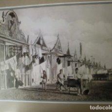 Fotografía antigua: LAMINA. LA PLAYA. N. 6. MEMORIA GRÁFICA DE VALENCIA. DIARIO LEVANTE. Lote 235094905