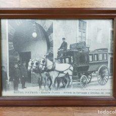 Fotografía antigua: TARJETA POSTAL ENMARCADA HOTEL PATREON MURCIA. Lote 235364225