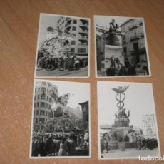Photographie ancienne: 4 FOTOGRAFIAS DE LAS FALLAS DE VALENCIA. Lote 235624115