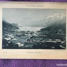 Fotografía antigua: PAYSAGES SUISSES - MALOJA (ENGADIN) NO. 1411 - COMPTOIR DE PHOTOTYPIE NEUCHATEL - 1896. Lote 235799715