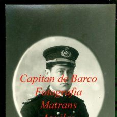 Fotografía antigua: CAPITAN DE BARCO - 1922 - FOTOGRAFIA MATRANS - AGUILAS - MURCIA - POSTAL FOTOGRÁFICA. Lote 236045515