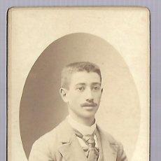 Fotografía antigua: 3501-ANTIGUA FOTOGRAFIA DE - UN CABALLERO - FOTO-G. B LANC - PARIS - DE PCP. SIGLO XX - DE 1.898. Lote 237552530