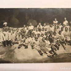 Fotografía antigua: TEULADA - BENISA - MORAIRA. FOTOGRAFÍA ANTIGUA GRUPO ESCOLAR DE NIÑOS Y NIÑAS (H.1900?). Lote 237614815