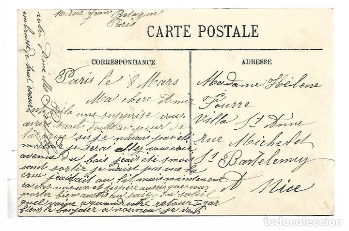 Fotografía antigua: 3501- PARIS.- INUNDACIONES 1910.-POSTAL-CARREFOUR DES RUES DE JAVEL SAINT CHARLES - DE 1910.CIRCU. - Foto 2 - 237747705