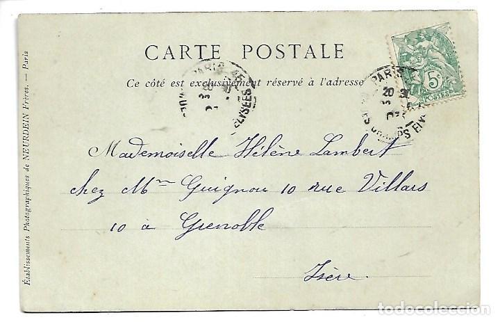 Fotografía antigua: 3501- PARIS.- POSTAL ANTIGUA DE L A RUE DE RIVOLI - CIRCULADA EN 1.903 - SIN DIVIDIR - Foto 2 - 237750465