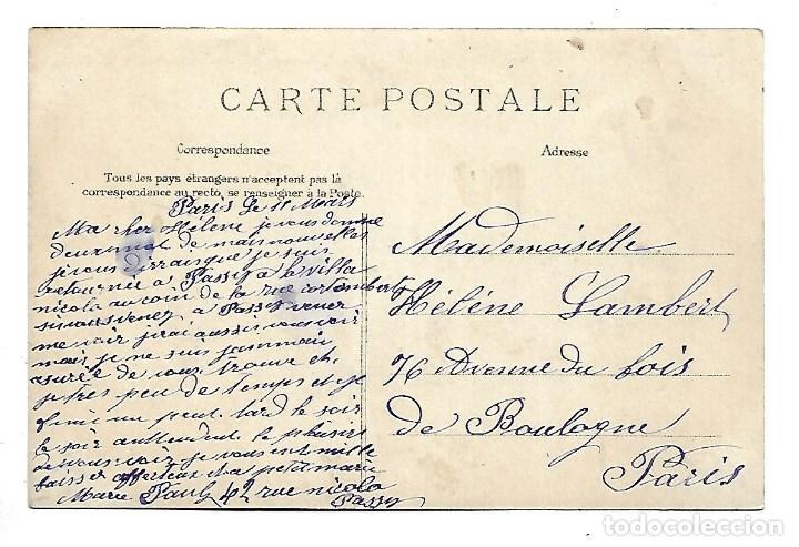 Fotografía antigua: 3501- PARIS.- POSTAL ANTIGUA. PLACE ET PONT SAINT MICHEL- CIRCULADA - Foto 2 - 237753375
