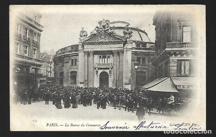 3501- PARIS.- ANTIGUA POSTAL DE LA BOLSA DE COMERCIO DEL 22- 11- 1.903 -SIN DIVIDIR (Fotografía Antigua - Tarjeta Postal)