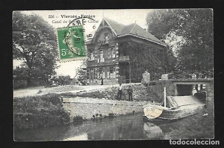 3501- VIERZON -FORGES -FRANCIA-.- ANTIGUA POSTAL - CANAL DU BERRY- CIRCULADA EL 28- 8- 1.915 (Fotografía Antigua - Tarjeta Postal)