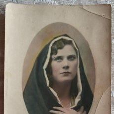 Fotografía antigua: ANTIGUA FOTOGRAFÍA COLOREADA. Lote 240241230