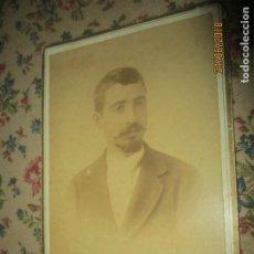 Fotografía antigua: PINTOR VICTOR VIÑES PERSONAJE IMPORTANTE ALICANTE FOTO SIGLO XIX INEDITA ORIGINAL. Lote 241919540