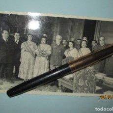 Fotografía antigua: CAPITAN GENERAL D. JOSE MONASTERIO Y JEFE ESTADO MAYOR DE VAVALENCIA VALLEJO S JOSE FALLAS 1949. Lote 242927335