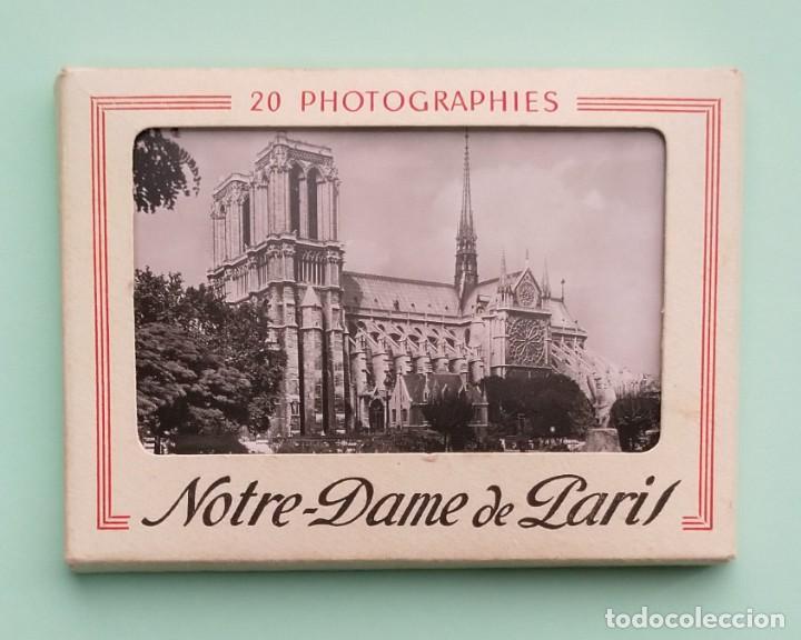 COLECCION 20 FOTOGRAFIAS DE NOTRE-DAME DE PARIS, CIRCA AÑOS 50 (Fotografía Antigua - Tarjeta Postal)