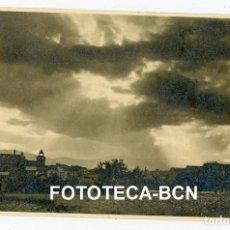 Fotografía antigua: FOTO ORIGINAL PLA DE LA SEU D'URGELL ATARDECER AÑOS 40. Lote 245169685