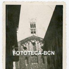 Fotografía antigua: FOTO ORIGINAL LA SEU D'URGELL CATEDRAL CAMPANARIO AÑOS 40. Lote 245169995