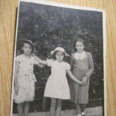Fotografía antigua: ANTIGUA TARJETA POSTAL FOTOGRAFIA FOTO NIÑAS . TARJETAS RAPIDAS CARCELLER. Lote 245736665