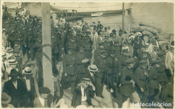 GRUPO DE MILITARES. 1926. FOTO J. VILA COLL. PALMA MALLORCA. (Fotografía Antigua - Tarjeta Postal)