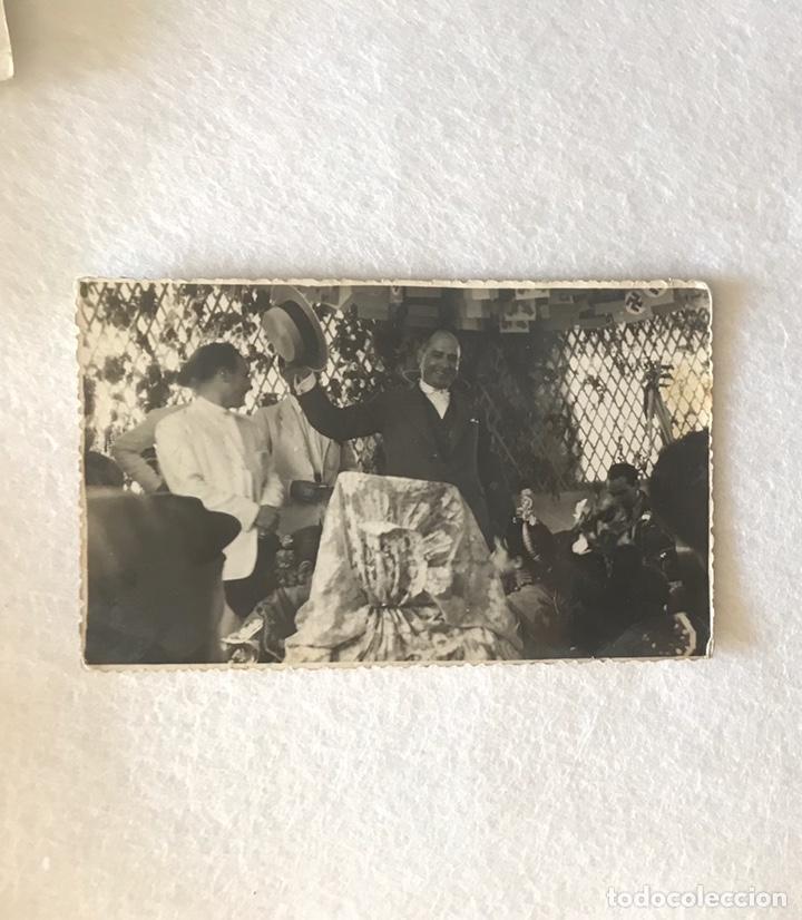 ANTIGUA FOTOGRAFÍA FOTOPOSTAL - FERIA DE ABRIL SEVILLA - CASETA CRUZ BORGOÑA - ESVÁSTICA NAZI (Fotografía Antigua - Tarjeta Postal)