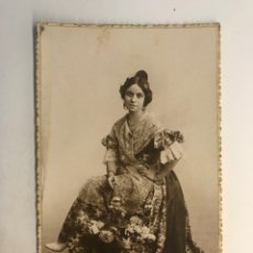 Fotografia antiga: FALLAS, FOTOGRAFÍA ANTIGUA ELENA FALLERA VALENCIANA EN BUENOS AIRES. FOTÓGRAFO A. FIGINI (A.1923). Lote 255619220
