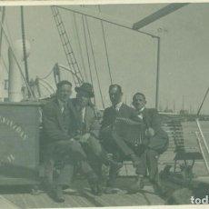 Fotografía antigua: MALLORCA. VAPOR CORREO REY JAIME II. HACIA 1920. DORSO DE TARJETA POSTAL.. Lote 257794965