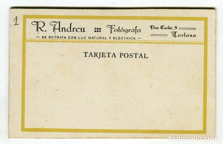 Fotografía antigua: TORTOSA FOTOGRAFIA R. ANDREU FOTO DE TRES SEÑORAS 13,5 X 9 CMS. APROX. VER REVERSO - Foto 2 - 260606790