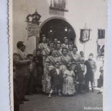 Fotografía antigua: ALQUERIA DE SAN JOSE PREMIOS DE FALLAS DE VALENCIA 1949 FALLERAS FOTO TAMAÑO TARJETA POSTAL. Lote 242900040