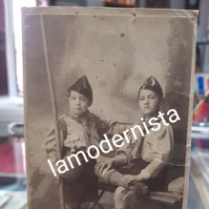 Fotografía antigua: ANTIGUA FOTOTRAFIA RETRATO NIÑOS EXPLORADORES BOY SCOUT LOS ITALIANOS SANTANDER. Lote 263106700
