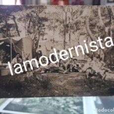 Fotografía antigua: ANTIGUA FOTOGRAFIA TROPA EXPLORADORES DE CARTAGENA MURCIA BOY SCOUT CAMPAMENTO ESPUÑA FOTO MATEO HER. Lote 263106965