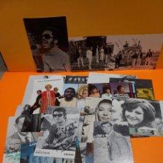 Fotografía antigua: 27 ANTIGUAS. FOTO--POSTAL DE CANTANTES Y GRUPOS MUSICALES...60/70... Lote 265502209