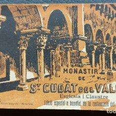 Fotografía antigua: SANT CUGAT DEL VALLES. MONASTIR. BLOC DE FOTOGRAFIES. COMPLET 16 FOT. C. 1919. Lote 269164883
