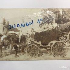 Fotografía antigua: VALENCIA. FOTOGRAFÍA ANTIGUA FALLERAS EN CALESA.. FERIA DE JULIO (A.1911) CÍRCULADA ... Lote 269166493