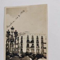 Fotografía antigua: POSTAL FOTOGRAFICA BARCELONA, 26 SEPTIEMBRE 1916. PASEO DE GRACIA. NO CIRCULADA.. Lote 269413098