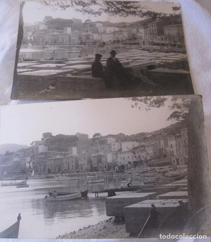 2 ANTIGUAS FOTOGRAFIAS DEL PORT DE SÓLLER, MALLORCA. 9 X 15 CM (Fotografía Antigua - Tarjeta Postal)