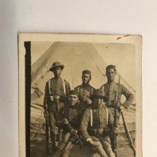 Fotografia antica: MILITAR FOTOGRAFÍA MELILLA. GUERRA DE AFRICA. GRUPO DE SOLDADOS DIFERENTES UNIDADES (H.1920?). Lote 275983248