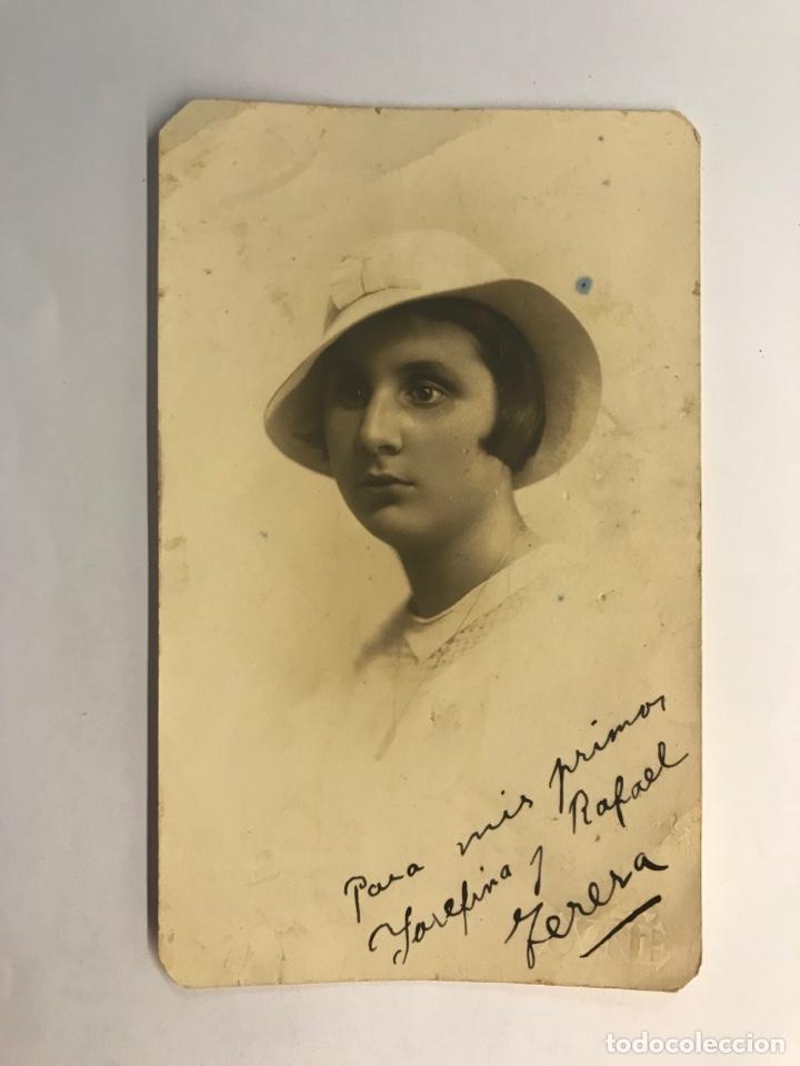 BARCELONA. FOTOGRAFÍA SUÑE, TERESA, A SUS PRIMOS…, (H.1930?) MEDÍDAS: 14 X 8,5 CM., (Fotografía Antigua - Tarjeta Postal)