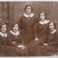 Fotografía antigua: TARJETA POSTAL NIEPCES - FOTOGRAFÍA NIÑAS - 9,4 CM X 14 CM. Lote 278970118