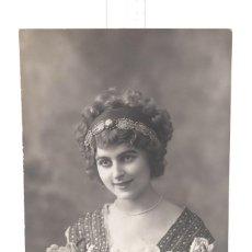 Fotografía antigua: TARJETA POSTAL - FOTOGRAFIA JOVEN 1912 - 14 CM X 9 CM. Lote 278975258