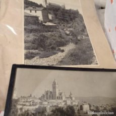 Fotografía antigua: 2 FOTOS ARTÍSTICAS DE SEGOVIA FIRMADA UNA POR MOYA. Lote 286915893