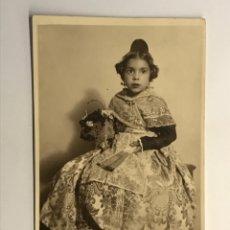 Fotografia antica: FALLAS VALENCIA, FOTOGRAFÍA FALLERA INFANTIL.. ENCARNITA A SUS TÍOS Y PRIMOS (H.1960?). Lote 287459973