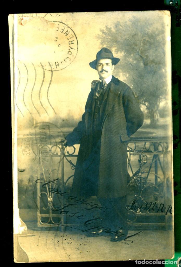 RETRATO - ERNEST TORTAJADA - 1912 - POSTAL FOTOGRÁFICA (Fotografía Antigua - Tarjeta Postal)