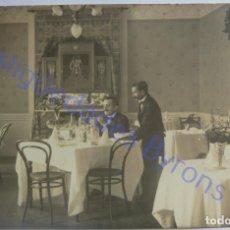 Fotografía antigua: FOTOGRAFÍA ANTIGUA. COMEDOR HOTEL OROTAVA. TENERIFE. Lote 289489728