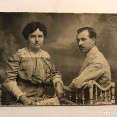 Fotografía antigua: LA VALENCIA QUE FUE FOTOGRAFÍA DERREY BURGUESÍA VALENCIANA RETRATO DE UN JOVEN MATRIMONIO (A.1915). Lote 289533963