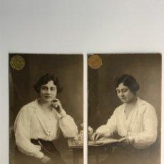 Fotografía antigua: LA BARCELONA QUE FUE…(2) FOTOGRAFÍA F. GAUSI, RETRATO DE UNA JOVEN SENTADA (H.1910?). Lote 289534433