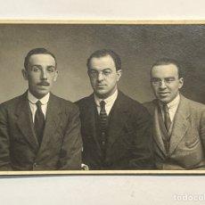 Fotografía antigua: ANTONIO GARCÍA Y JOAQUIN SOROLLA, UNA RELACIÓN ARTÍSTICA Y FAMILIAR. FOTOGRAFÍA DE TRES AMIGOS. Lote 293835408