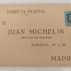 Fotografía antigua: TARJETA POSTAL JUAN MICHELIN MADRID. Lote 295406028