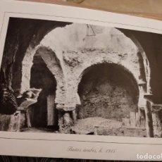 Fotografía antigua: LÁMINA MURCIA.BAÑOS ARABES - (MURCIA) - LÁMINA 40 X 28. Lote 295635753