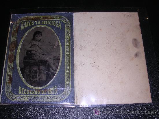 FERROTIPO BAÑOS LA DELICIOSA, BARCELONA, RECUERDO DE 1893, (Fotografía Antigua - Ambrotipos, Daguerrotipos y Ferrotipos)