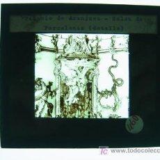 Fotografía antigua: PALACIO DE ARANJUEZ, SALON DE PORCELANAS - ANTIGUO CRISTAL PARA LINTERNA MAGICA - AÑOS 1930. Lote 10381453